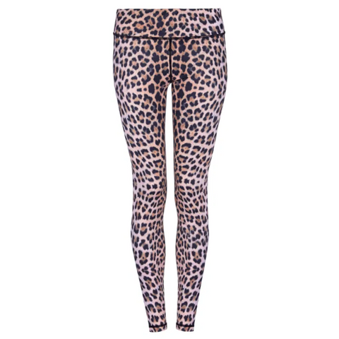 Higher Waisted Sports Luxe Leggings - Natural Leopard