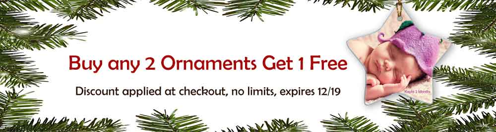 Buy 2 Ornaments Get 1 Free