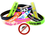 bug bands mosquito resistant Colorfill silicone rubber wristband printed with ink