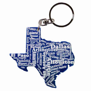 Red Texas Shaped Anodized Aluminum Key Chain Bottle Opener with Laser Engraved Custom Logo Personalized