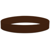 Brown Blank Half Inch Wristband