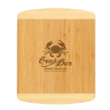 Bamboo custom shaped cutting board laser engraved personalized text kitchen accessory house warming closing gift