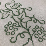 Sandblasted Vine Details on Patio Bench