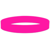 Hot_Pink Blank Half Inch Wristband