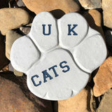 Paw Shaped Personalized Sandblasted Patio Stone
