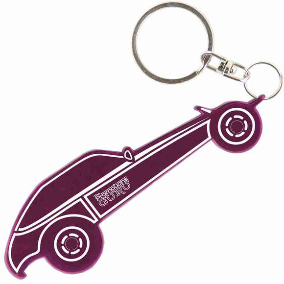 Purple Buggy Shaped Anodized Aluminum Key Chain Bottle Opener with Laser Engraved Custom Logo Personalized