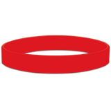 Red Blank Half Inch Wristband