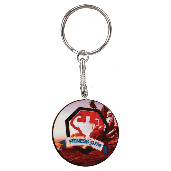 Round Full Color Key Chain