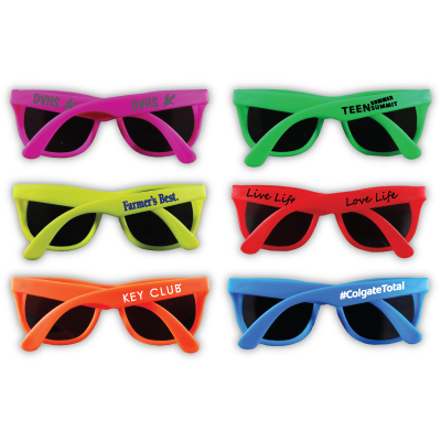 Solid Colored Neon Sunglasses