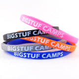 mini Colorfill silicone rubber wristband printed with ink