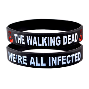 The Walking Dead Bracelet We're All Infected Wristband - 2 Pack