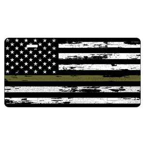 Military Olive Drab Distressed Flag