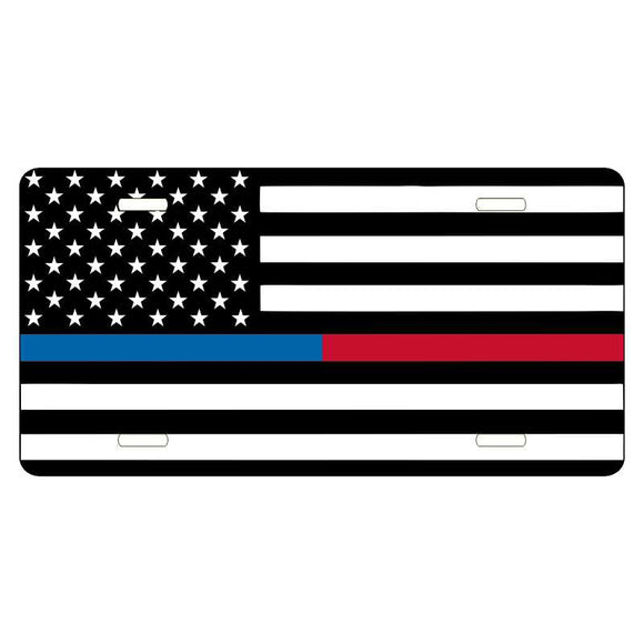 Thin Red & Blue Line Flag