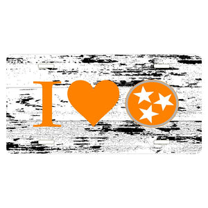 Tennessee Tri-Star I HEART distressed