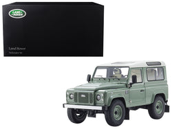 Land Rover Defender 90 Heritage Grasmere Green with Alaska White Top 1/18 Diecast Model Car by Kyosho