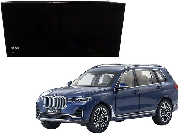 BMW X7 with Sunroof Phytonic Blue Metallic 1/18 Diecast Model Car by Kyosho