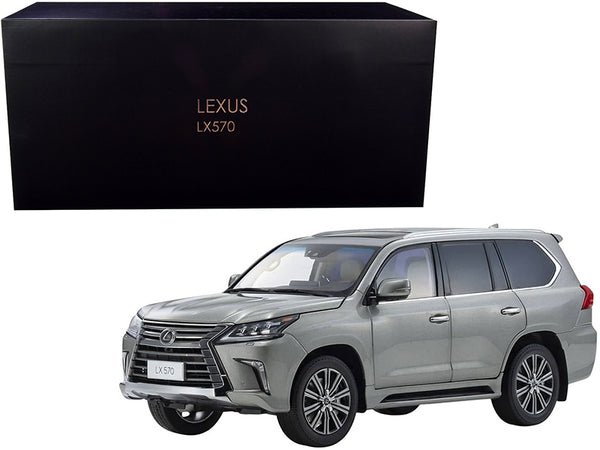 Lexus LX570 Sonic Titanium Gray Metallic 1/18 Diecast Model Car by Kyosho
