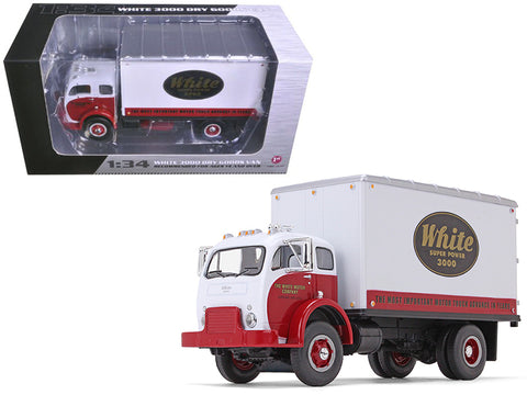 1953 White Super Power 3000 COE Delivery Van 1/34 Diecast Model by First Gear