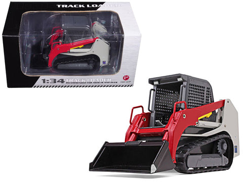 Track Loader Gray/Red 1/34 Diecast Model by First Gear