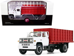 GMC 6500 Grain Truck White and Red 1/34 Diecast Model by First Gear