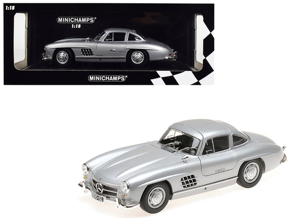 1955 Mercedes Benz 300 SL Silver Limited Edition to 600 pieces Worldwide 1/18 Diecast Model Car by Minichamps