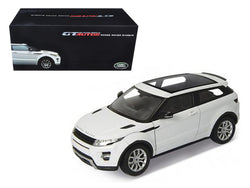 Range Rover Evoque White With White Roof 1/18 Diecast Model Car by Welly
