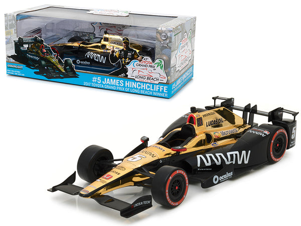 2017 Toyota Grand Prix of Long Beach Winner Car #5 James Hinchcliffe - Schmidt Peterson Motorsports - Arrow 1/18 Diecast Model Car by Greenlight