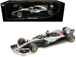 Mercedes AMG Petronas Motorsport #44 Lewis Hamilton Formula One Team F1 W09 EQ Power+ (2018) 1/18 Diecast Model Car by Minichamps