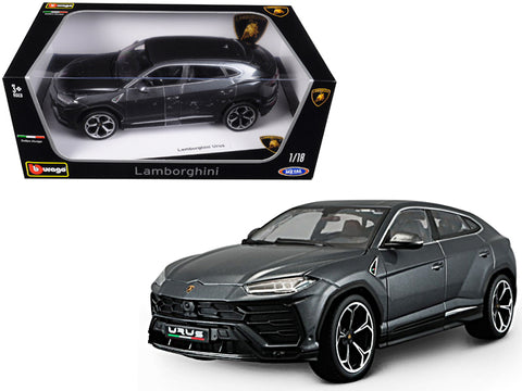 Lamborghini Urus Grey 1/18 Diecast Model Car by Bburago