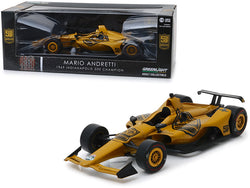 "Indy Car Mario Andretti 50th Anniversary 1969 Indianapolis 500 Champion ""Dallara Universal Aero Kit Tribute IndyCar"" 1/18 Diecast Model Car by Greenlight"