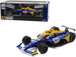 "Dallara Indy Car #27 Alexander Rossi ""NAPA Auto Parts"" Andretti Autosport ""NTT Indy Car Series"" (2020) 1/18 Diecast Model Car by Greenlight"