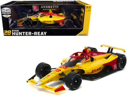 "Dallara Indy Car #28 Ryan Hunter-Reay ""DHL"" Andretti Autosport ""NTT Indy Car Series"" (2020) 1/18 Diecast Model Car by Greenlight"