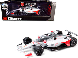 "Dallara IndyCar #98 Marco Andretti ""U.S. Concrete"" Andretti Herta Autosport ""NTT Indy Car Series"" (2020) 1/18 Diecast Model Car by Greenlight"