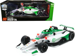 "Dallara IndyCar #88 Colton Herta ""Capstone Turbine Corporation"" Andretti Harding Steinbrenner Autosport ""NTT Indy Car Series"" (2020) 1/18 Diecast Model Car by Greenlight"