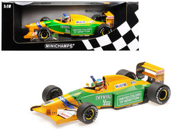 Benetton Ford B192 #19 Michael Schumacher 1st GP Victory Spa (1992) Limited Edition to 1,992 pieces Worldwide 1/18 Diecast Model Car by Minichamps