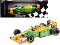 "Benetton Ford B192 ""Camel"" #19 Michael Schumacher 3rd Place GP Germany (1992) Limited Edition to 300 pieces Worldwide 1/18 Diecast Model Car by Minichamps"