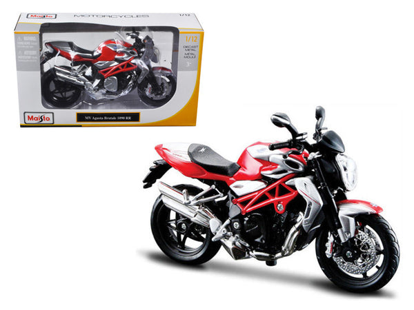 2012 MV Agusta Brutale 1090 RR Red/Silver 1/12 Diecast Motorcycle Model by Maisto