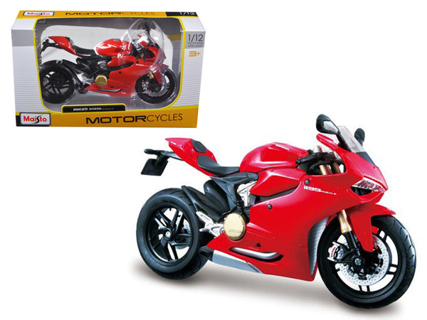 Ducati 1199 Panigale Red 1/12 Diecast Motorcycle Model by Maisto