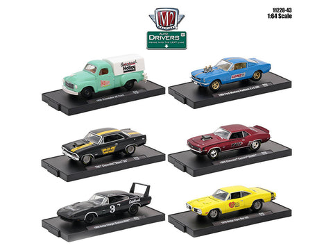 """Drivers"" Release #43 (6 Piece Set) IN BLISTER PACKS 1/64 Diecast Models by M2 Machines"