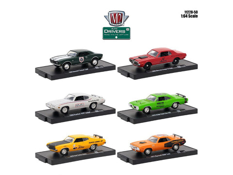 """Drivers"" Release #50 (6 Piece Set) IN BLISTER PACKS 1/64 Diecast Models by M2 Machines"