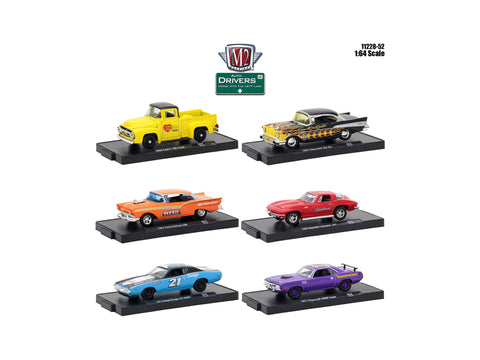 """Drivers"" Release #52 (6 Piece Set) IN BLISTER PACKS 1/64 Diecast Models by M2 Machines"