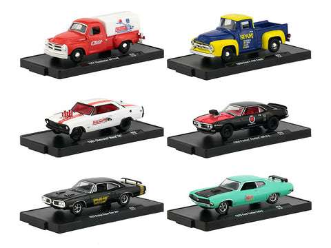 """Drivers"" Release #56 (6 Piece Set) IN BLISTER PACKS 1/64 Diecast Models by M2 Machines"