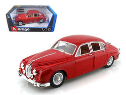 1959 Jaguar Mark II Red 1/18 Diecast Model Car by Bburago