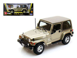 Jeep Wrangler Sahara Khaki 1/18 Diecast Model Car by Bburago
