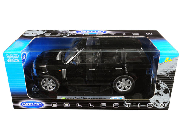 2003 Land Rover Range Rover Black 1/18 Diecast Model Car by Welly