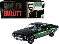 "1968 Ford Mustang GT Green Chrome Edition Steve McQueen ""Bullitt"" (1968) Movie 1/18 Diecast Model Car by Greenlight"