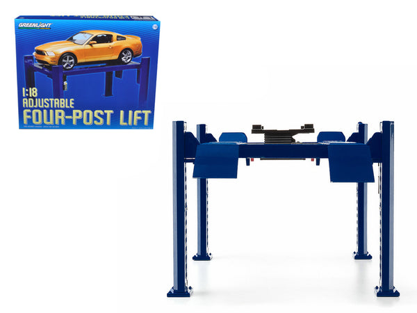 Four Post Lift Blue For 1/18 Diecast Models by Greenlight