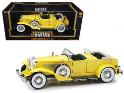 "1934 Duesenberg II SJ Yellow ""The Great Gatsby"" Movie (2013) 1/18 Diecast Model Car by Greenlight"