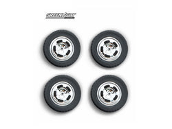 1978 Ford Mustang II Cobra Five Slot Performance Wheels and Tires Set 1/18 Diecast by Greenlight