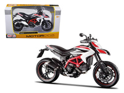 2013 Ducati Hypermotard SP White 1/12 Diecast Motorcycle Model by Maisto